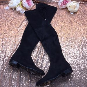 Marc Fisher Black Over the Knee Boots 5M